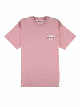 Carhartt WIP T-Shirt Detroit Emblem rosa