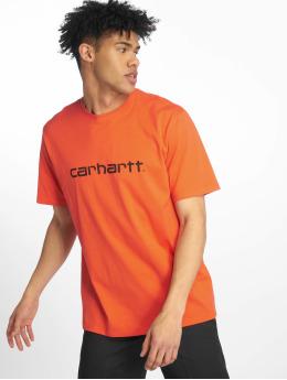 Carhartt WIP T-Shirty Script czerwony