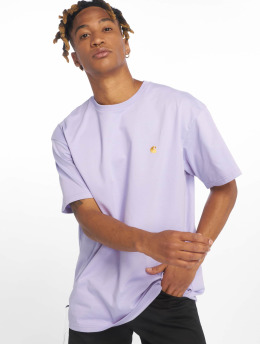 Carhartt WIP T-Shirty Chase fioletowy
