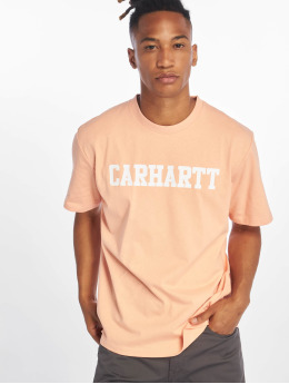 Carhartt WIP T-Shirty College rózowy