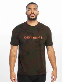 Carhartt WIP T-skjorter WIP Script kamuflasje