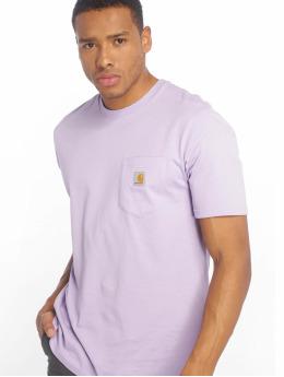 Carhartt WIP T-skjorter Pocket lilla