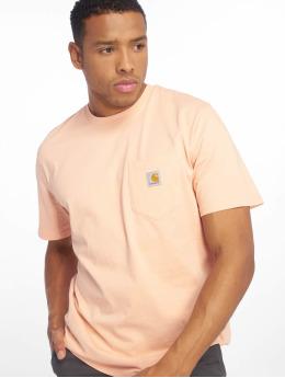 Carhartt WIP T-skjorter Wip Pocket oransje