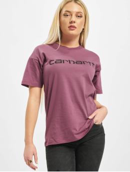 Carhartt WIP T-skjorter S/S Script rosa
