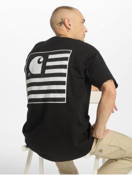 Carhartt WIP T-skjorter State Patch svart