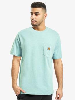 Carhartt WIP Tričká Pocket  modrá