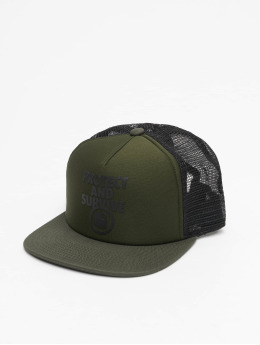 Carhartt WIP Trucker Cap Protect & Survive green