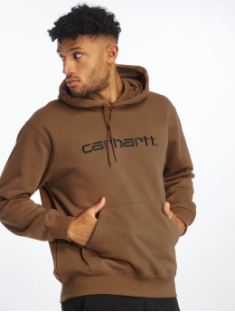 Carhartt WIP Vetoketjuhupparit Label  ruskea