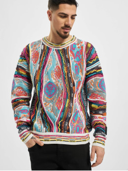 Carlo Colucci Swetry Jacquard kolorowy
