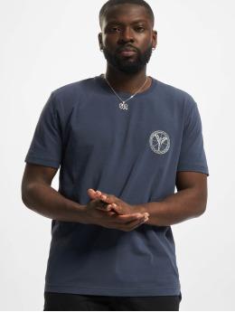 Carlo Colucci T-Shirt Logo  blau