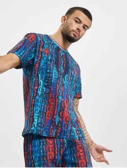 Carlo Colucci t-shirt Alloverprint  blauw