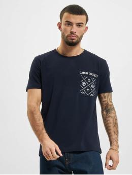 Carlo Colucci T-shirts Pocket  blå