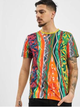 Carlo Colucci T-Shirty Retro kolorowy