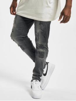 Cayler & Sons Slim Fit Jeans Paneled Denim schwarz