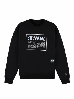 Champion Pullover by Wood Wood Mike Crewneck Sweatshirt schwarz