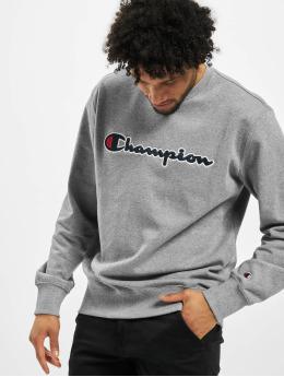 Champion Pulóvre Satin Logo  šedá