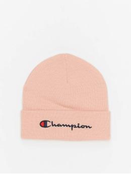 Champion Rochester Beanie Big Logo rosa chiaro