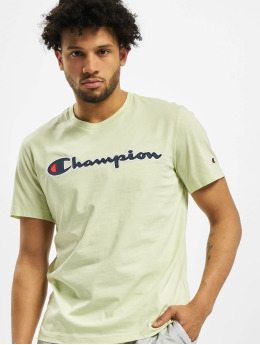 Champion T-Shirt Satin Logo grün