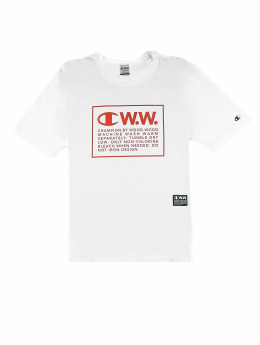 Champion T-Shirt by Wood Wood Rick Crewneck weiß
