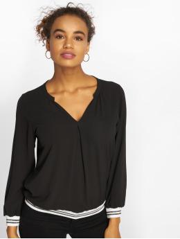 Charming Girl Bluse Uni schwarz