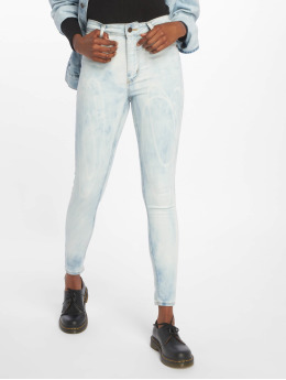 Cheap Monday Skinny Jeans High Spray Blue Spider niebieski