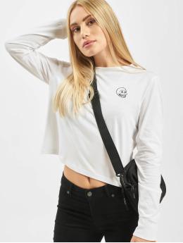 Cheap Monday T-Shirt manches longues Beside Skull blanc