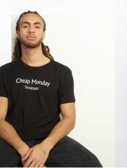 Cheap Monday T-shirt Standard Cheap Monday Text nero