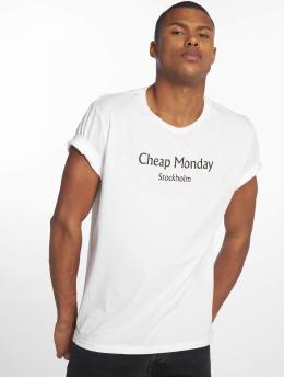 Cheap Monday T-shirt Standard Cheap Monday Text vit