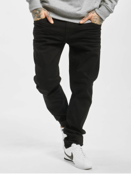 Cipo & Baxx Straight fit jeans Plain zwart