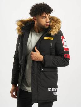 Cipo & Baxx Winterjacke Fur  schwarz
