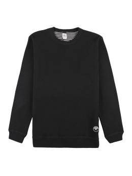 Cleptomanicx Pullover Woozer schwarz