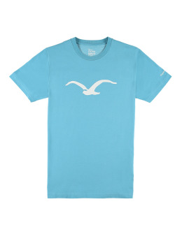 Cleptomanicx T-Shirt Möwe Basic türkis