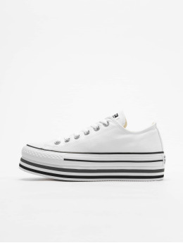 Converse Baskets Chuck Taylor All Star Platform Layer Ox blanc