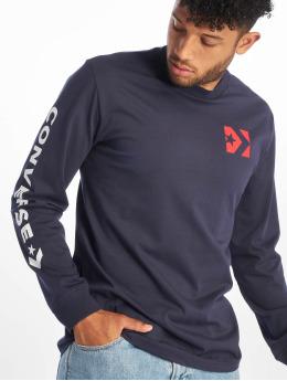 Converse Camiseta de manga larga Wordmark  azul