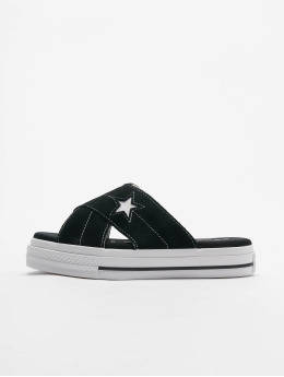 Converse Slipper/Sandaal One Star Slip zwart