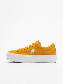 Converse One Star Platform Ox Sneakers Field Orange/White/White