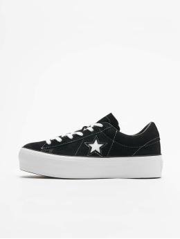 Converse sneaker One Star Platform Ox zwart