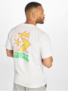 Converse T-shirt Munchy Star Chevron bianco