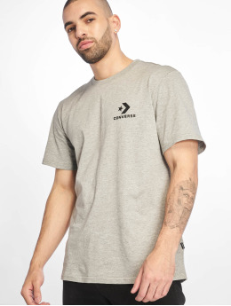 Converse T-Shirt Left Chest Star Chevron gris