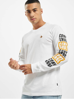 Converse T-Shirt manches longues Fold Out blanc