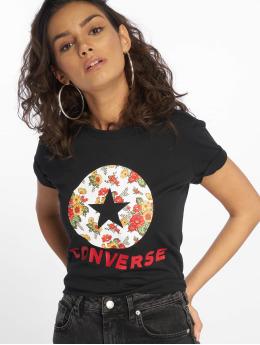 Converse Frauen T-Shirt In Bloom in schwarz