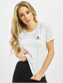 Converse T-Shirt Stacked Logo Left Chest weiß