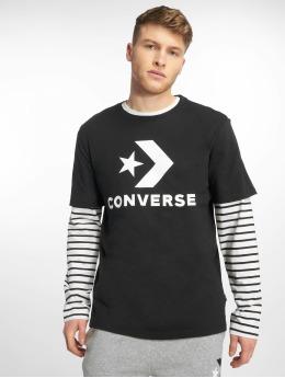 Converse t-shirt Star Chevron zwart