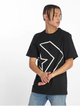 Converse t-shirt Tilted Star Chevron zwart