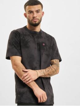 Converse t-shirt Marble Cut And Sew zwart