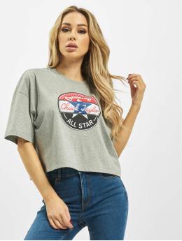 Converse T-shirts Art OS Floral Circle grå