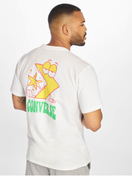 Converse T-shirts Munchy Star Chevron hvid