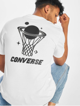 Converse T-shirts Planet Hoop hvid