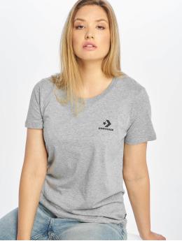 Converse T-skjorter Chevron Left Logo grå