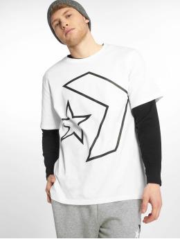 Converse T-skjorter Tilted Star Chevron hvit